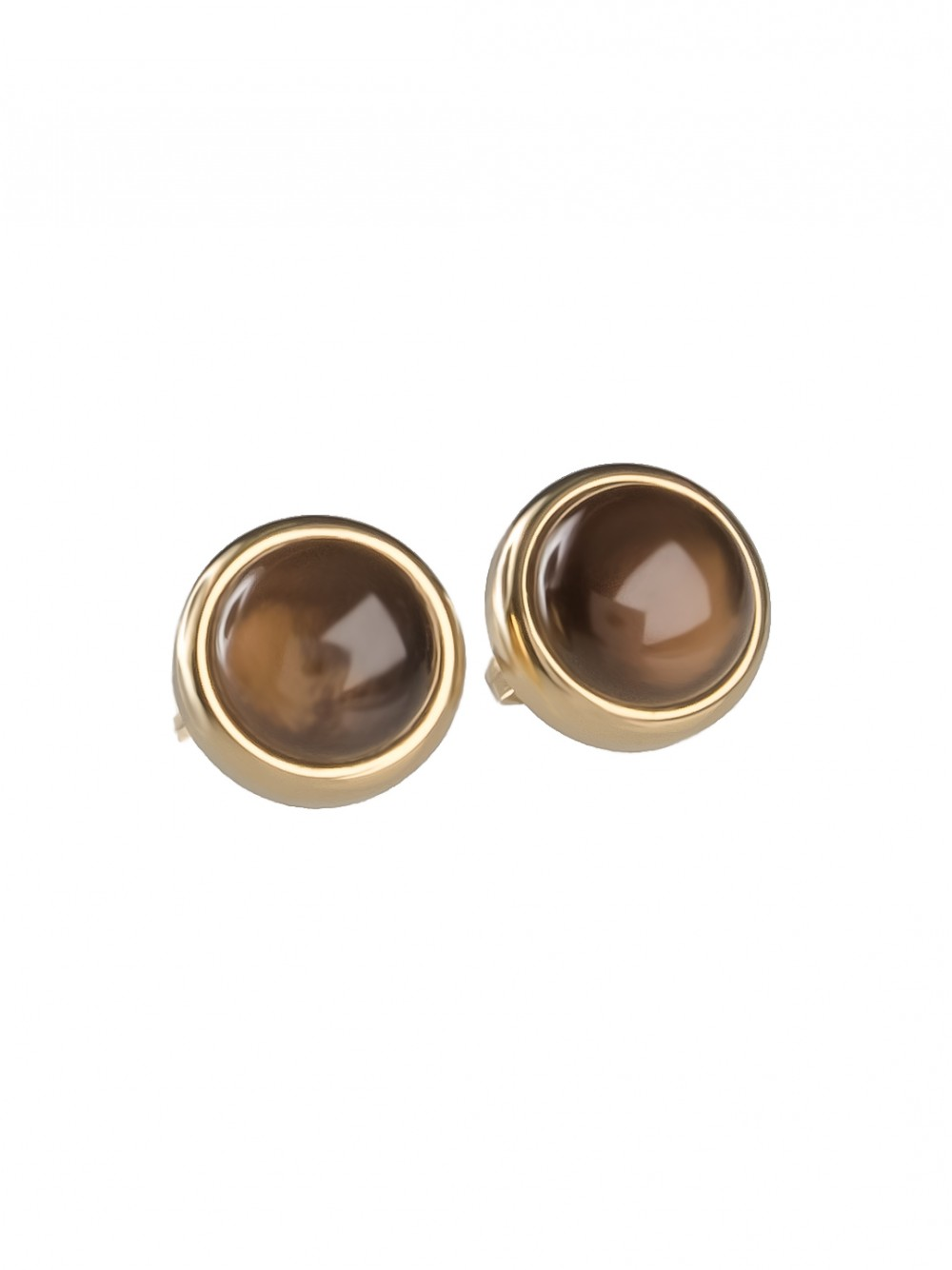EAR STUDS SMOKY MOON