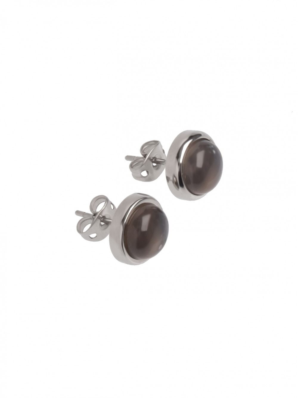 EAR STUDS GREY MOON