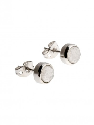 EAR STUDS WHITE CRUMBS