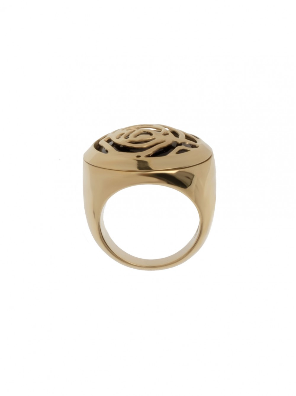 RING BLACK ROSE